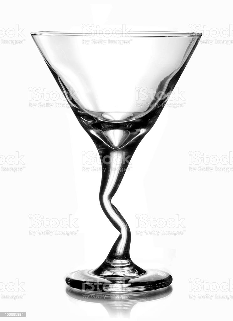 Martini Cocktail Glass isolated on white background royalty-free stock photo