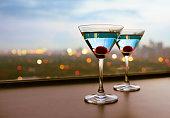 Martini cocktail glasses