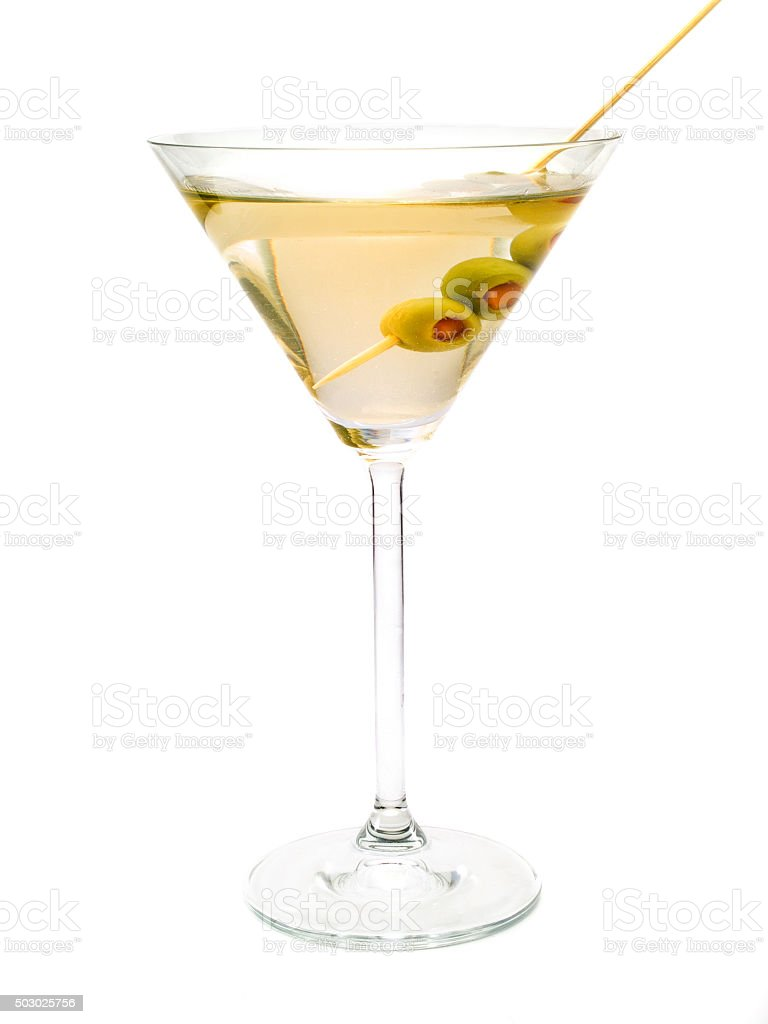 Martini cocktail isolated on white background stock photo