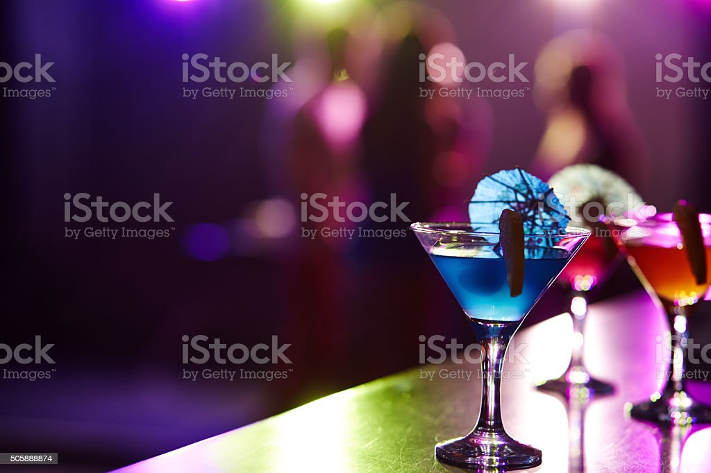 Martini cocktails stock photo