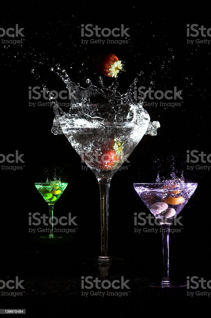 Martini colors royalty-free stock photo