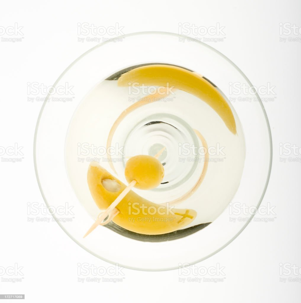 Martini from above royalty-free stock photo