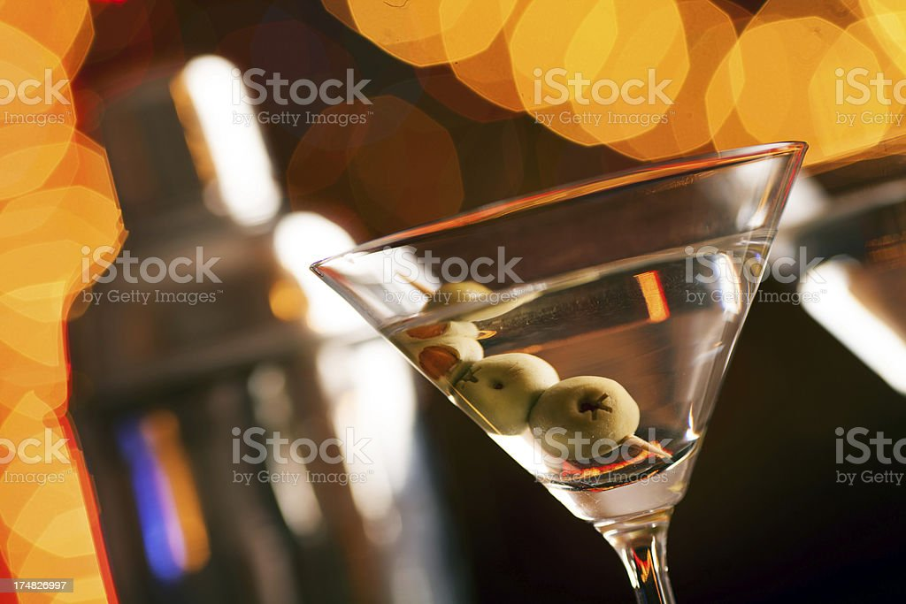 Martini glass and a shaker royalty-free stock photo