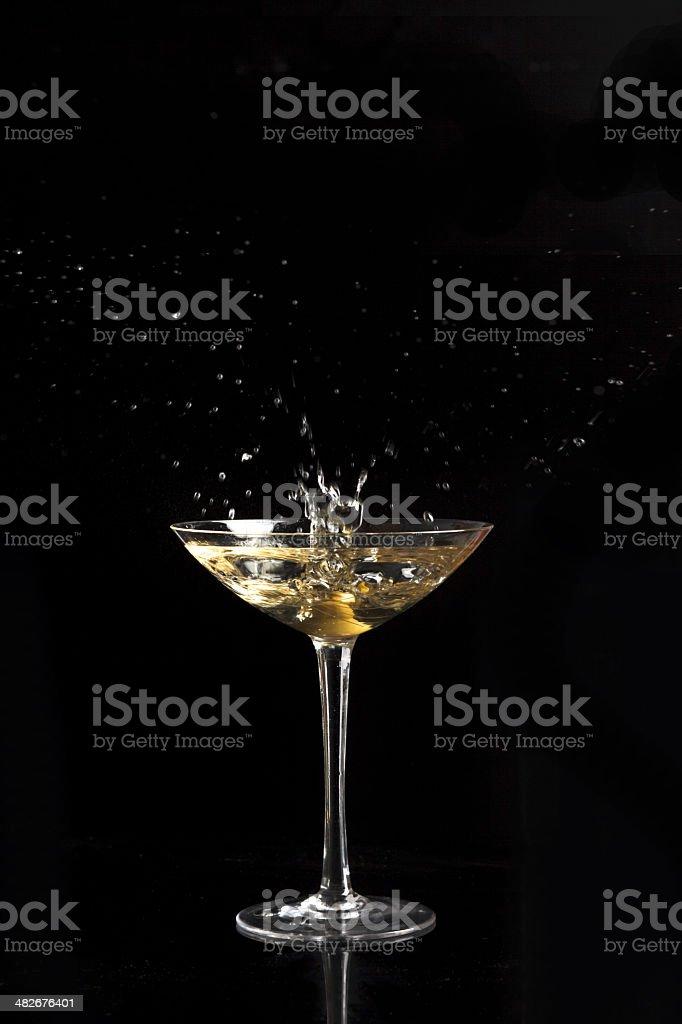 martini glass and splash royalty-free stock photo