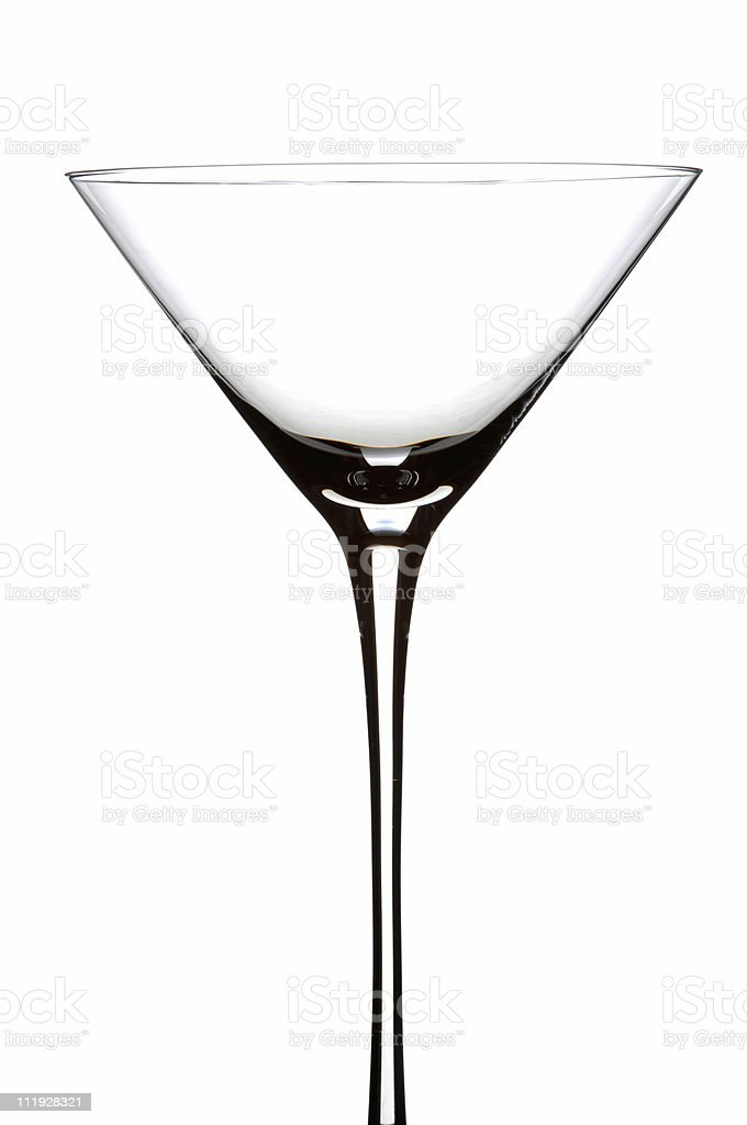 Martini Glass Empty Isolated on White Background royalty-free stock photo