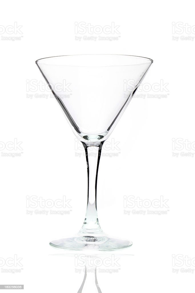 Martini glass isolated on white royalty-free stock photo