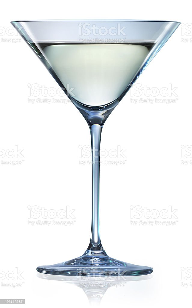 Martini glass isolated on white. With clipping path stock photo