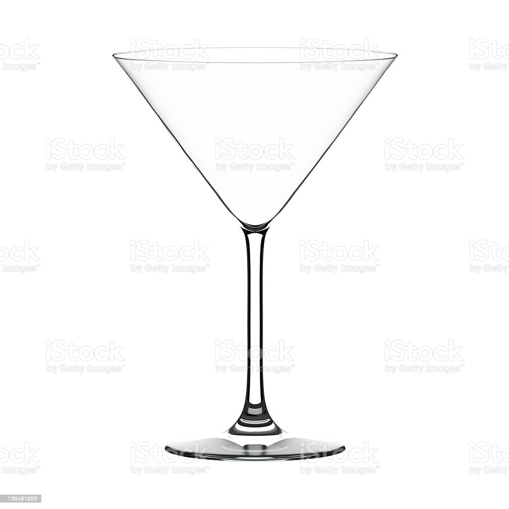 Martini glass royalty-free stock photo
