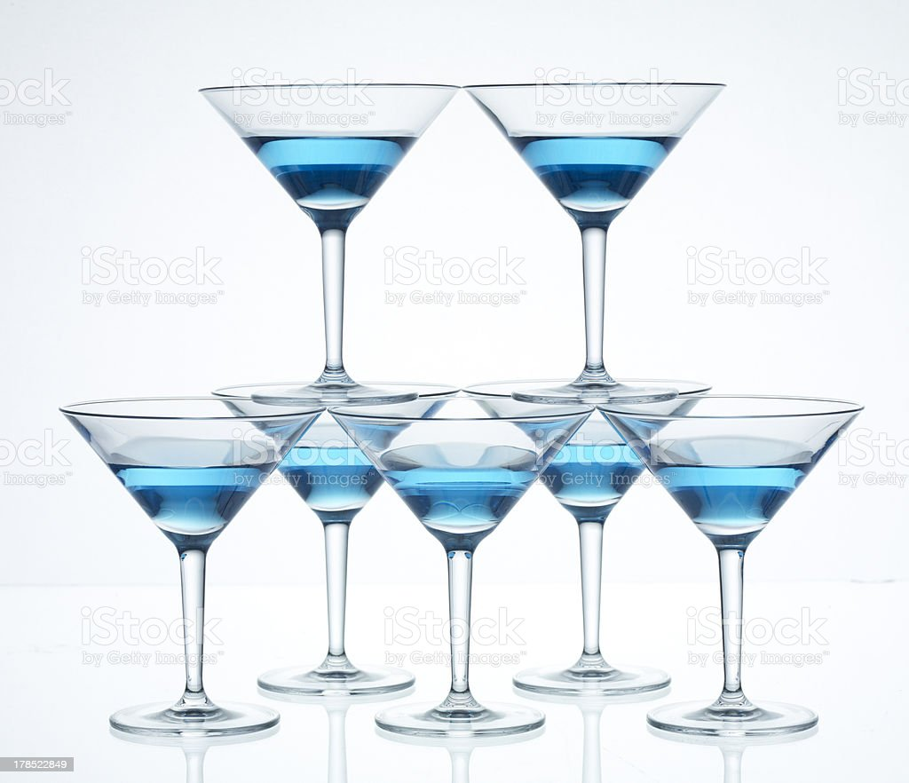 Martini Glass Pyramid royalty-free stock photo
