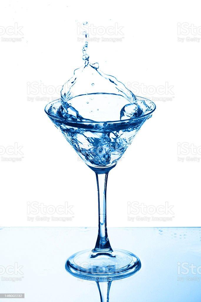 martini glass splash royalty-free stock photo