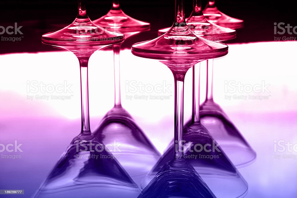 Martini glasses III royalty-free stock photo