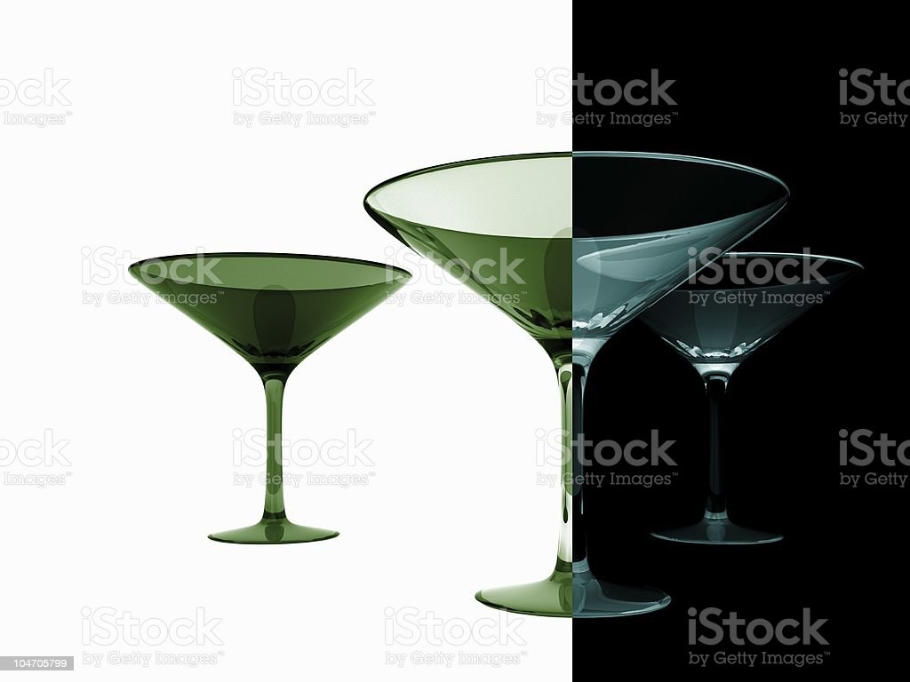 Martini Glasses royalty-free stock photo