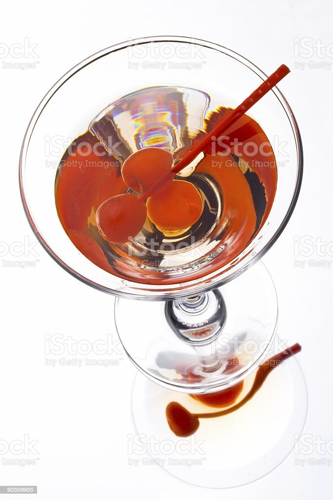 Martini in a glass royalty-free stock photo