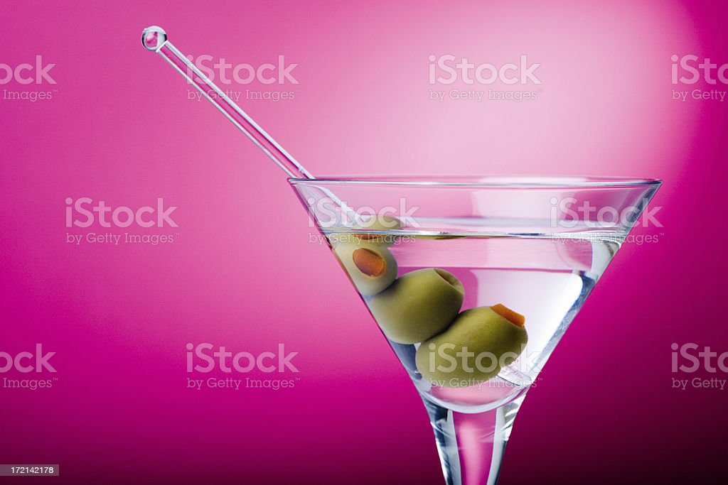 Martini in pink royalty-free stock photo