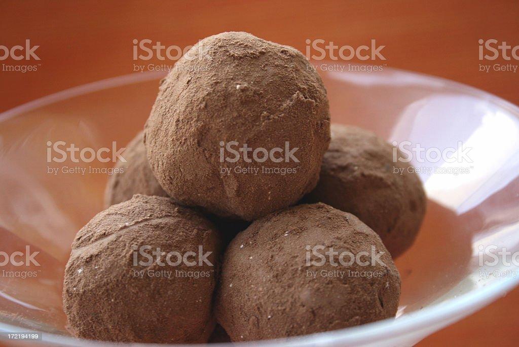 martini of truffles royalty-free stock photo