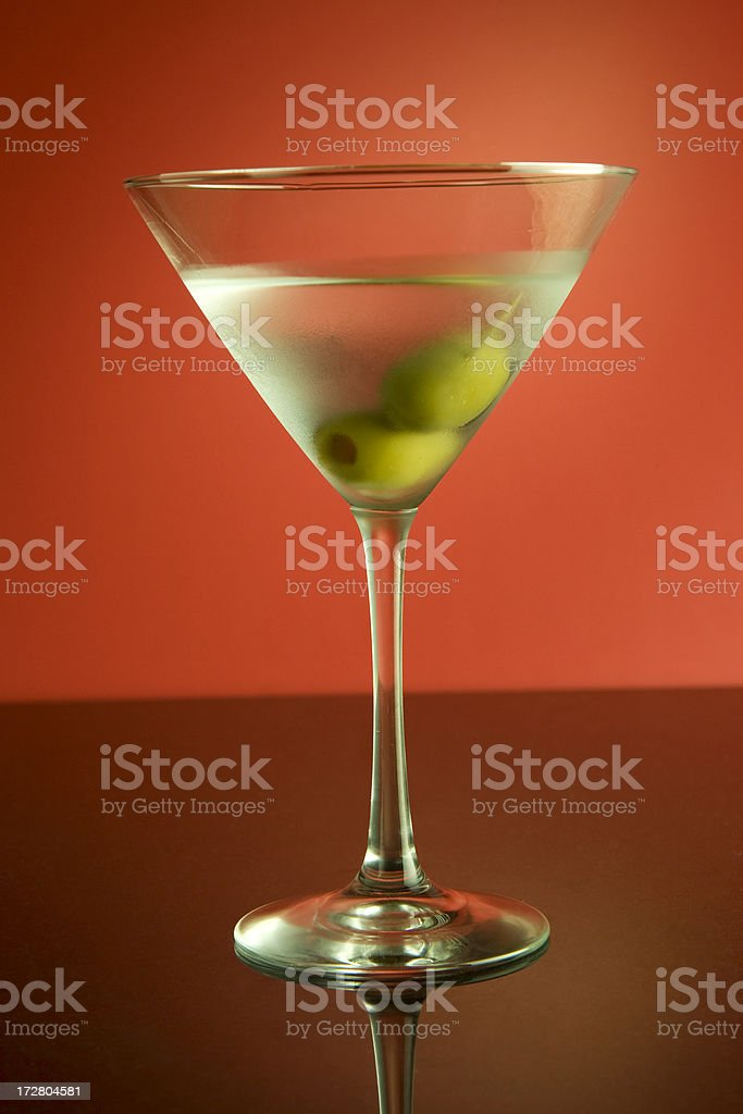 Martini on Red royalty-free stock photo