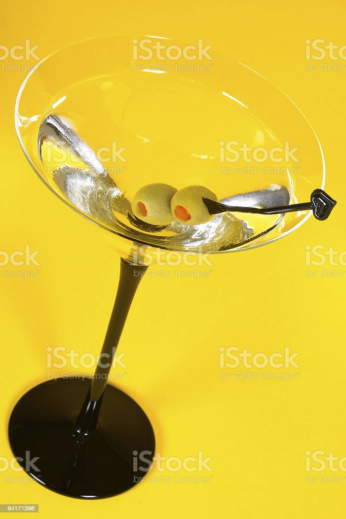 Martini on Yellow royalty-free stock photo