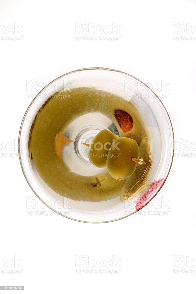 martini overhead royalty-free stock photo
