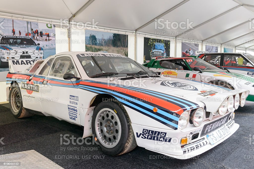 Martini Racing Group B Lancia 037 rally car stock photo