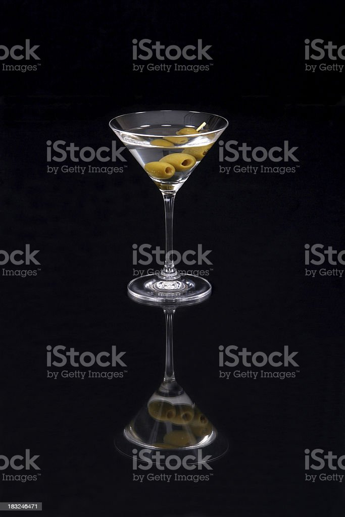 Martini reflected. royalty-free stock photo