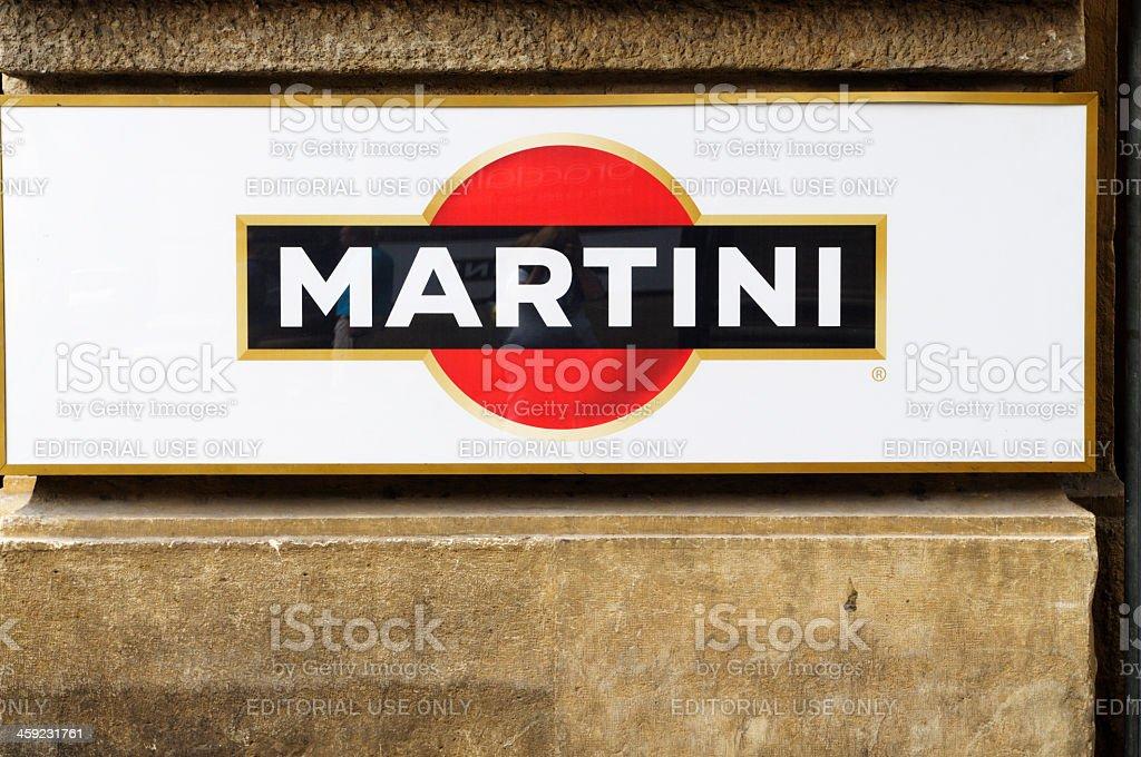 Martini Sign royalty-free stock photo