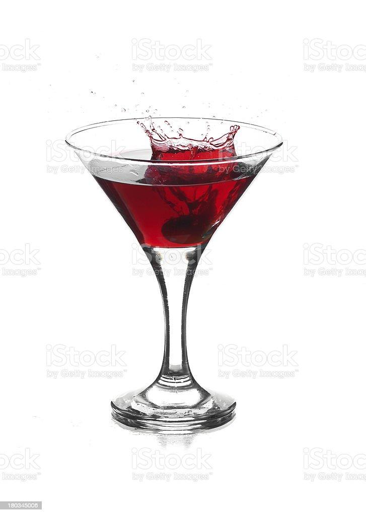 Martini Splash royalty-free stock photo