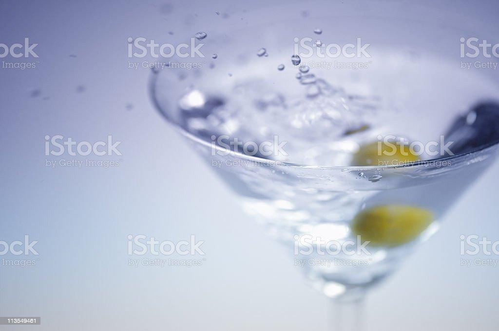 Martini splash VII royalty-free stock photo