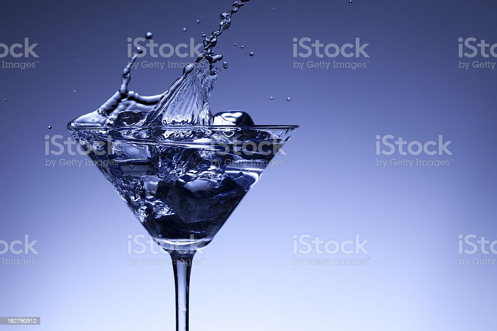 Martini Splashing Up stock photo
