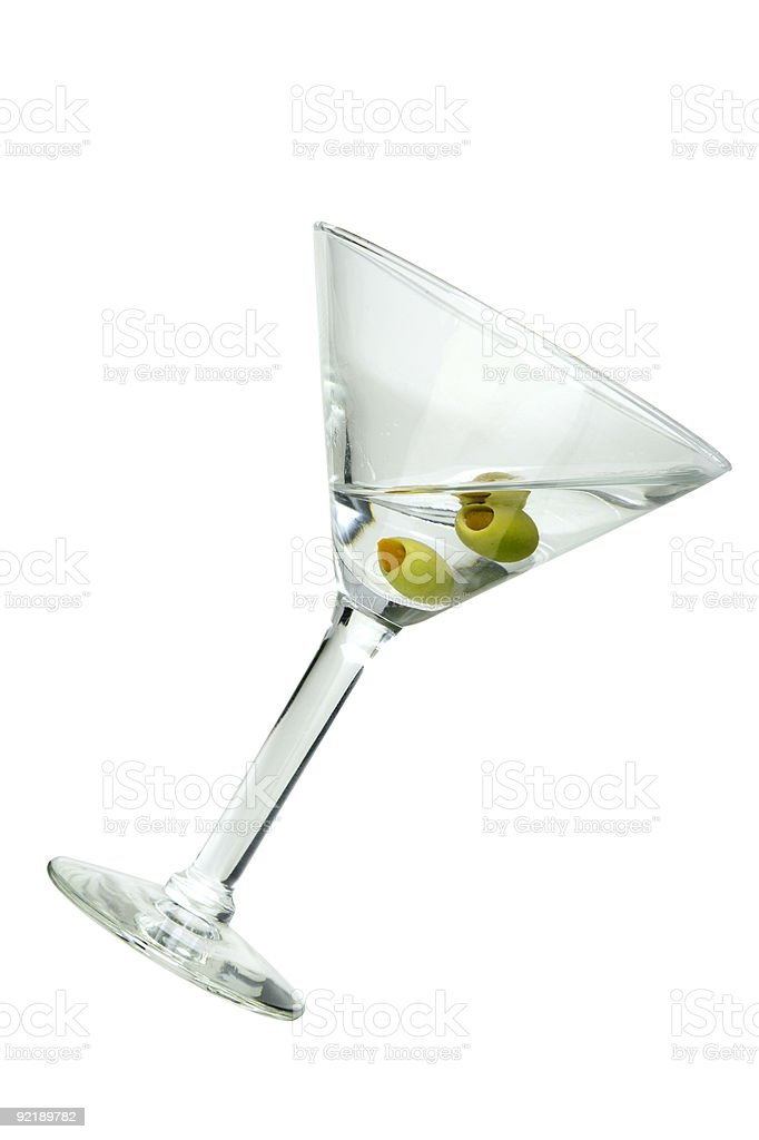 Martini Tilting royalty-free stock photo