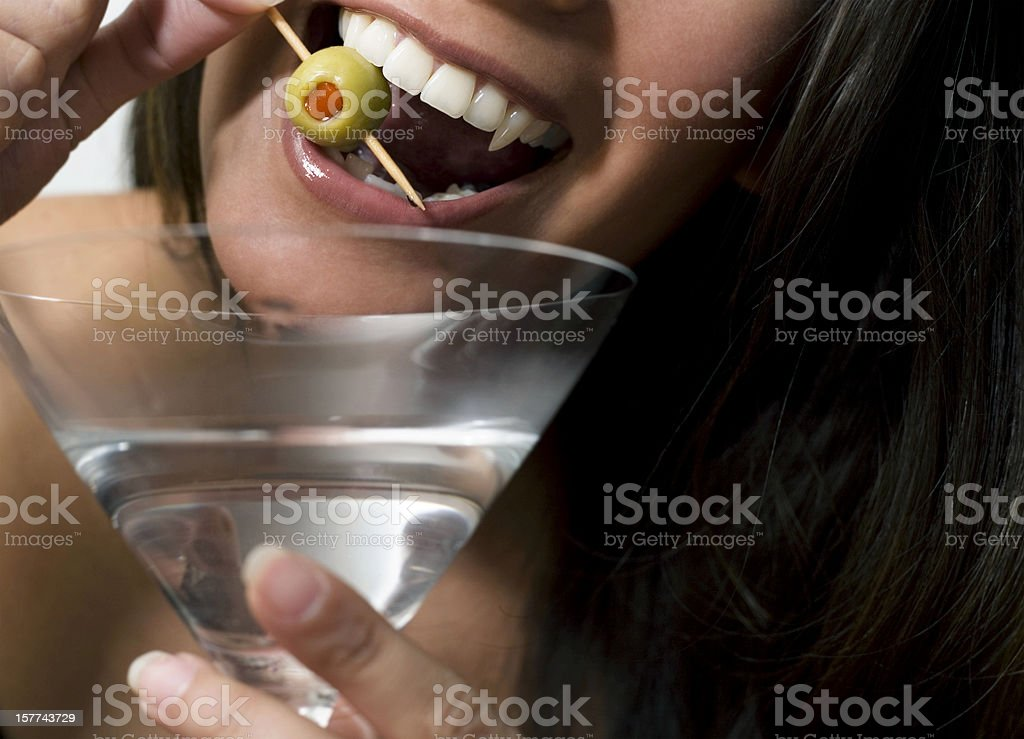 martini vampire stock photo