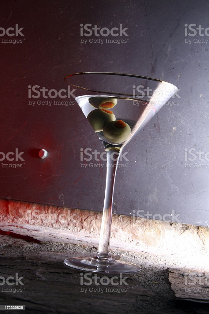 Martini Vodka or Gin with Olives royalty-free stock photo