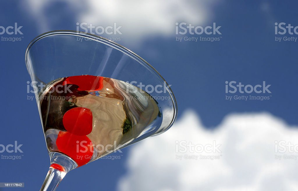 Martini with Cherries royalty-free stock photo