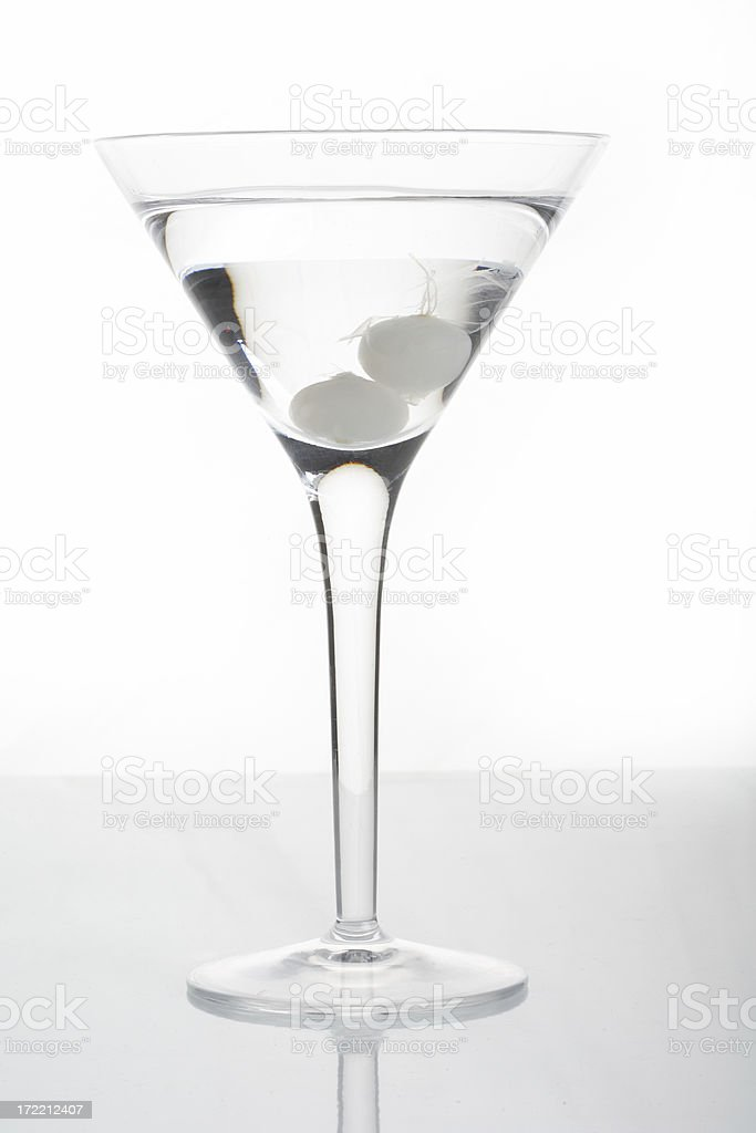 Martini with cocktail onion stock photo