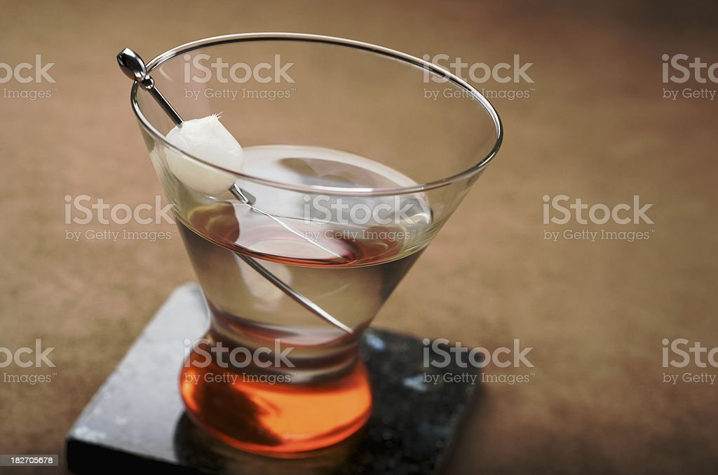 Martini with Cocktail Onion royalty-free stock photo