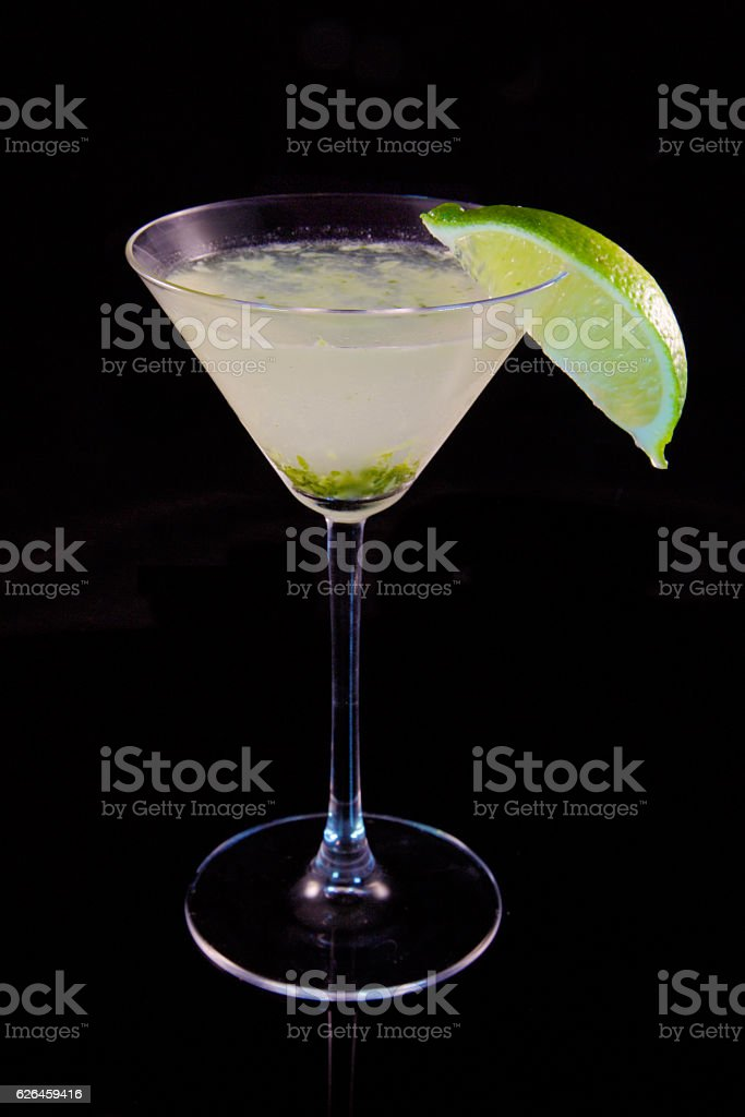 Martini with Lime stock photo