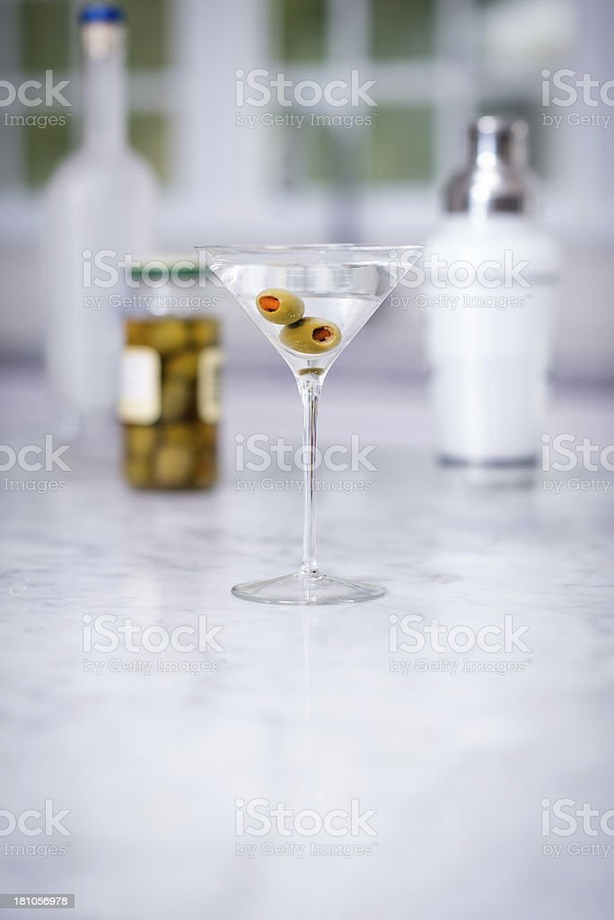 Martini With Olives royalty-free stock photo