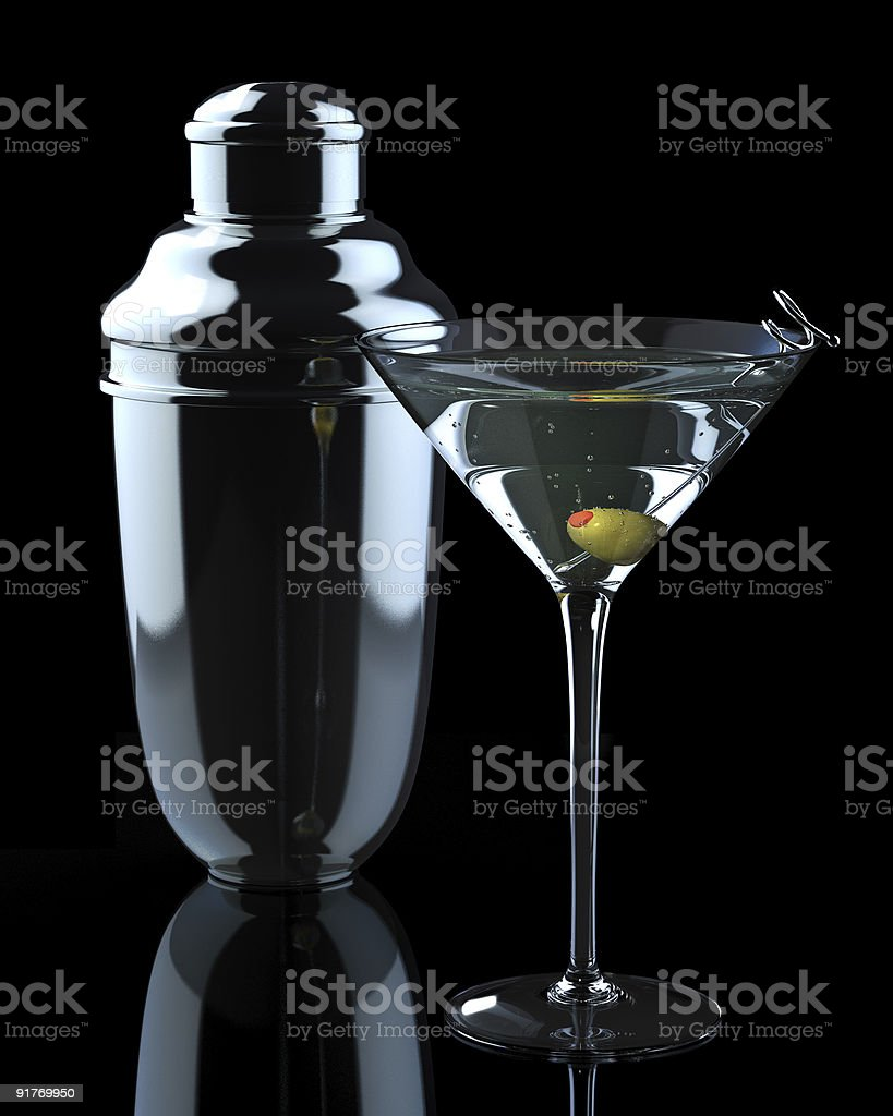 Martini with Shaker stock photo