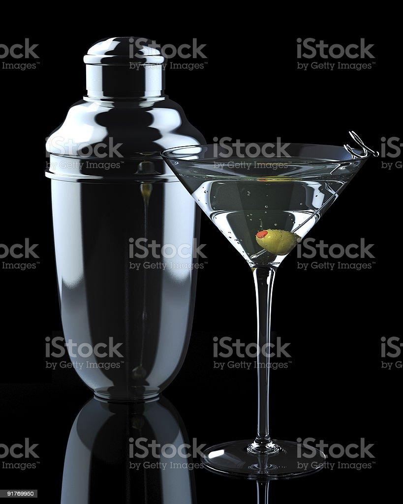 Martini with Shaker stock photo