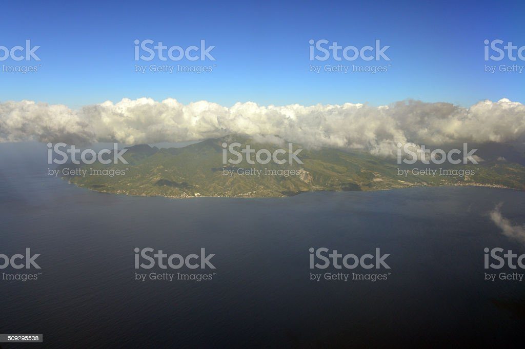 Martinique island from the air stock photo
