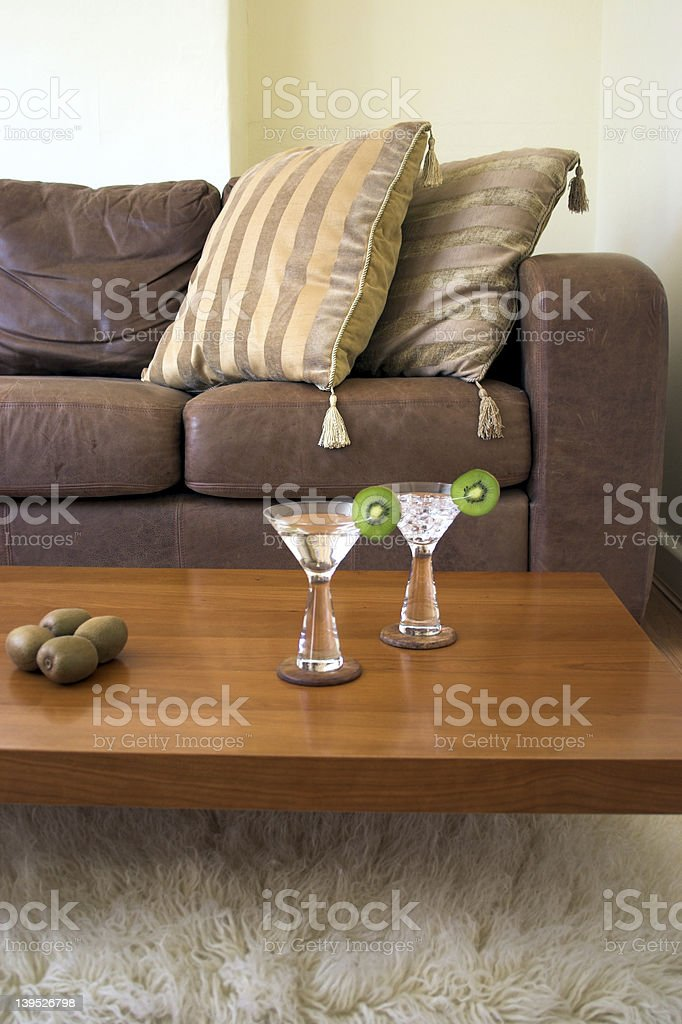 Martinis at home royalty-free stock photo