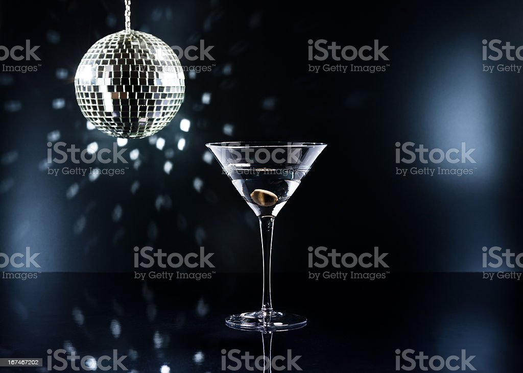 Martinis on the dance floor royalty-free stock photo