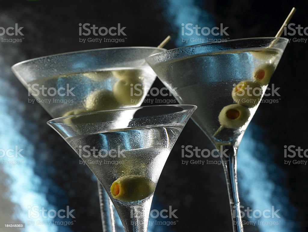Martinis Wet & Wild royalty-free stock photo