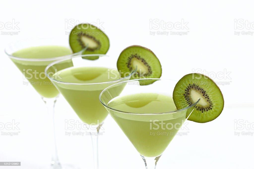 Martinis With Kiwi stock photo