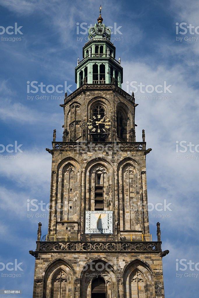 Martinitoren, Groningen stock photo