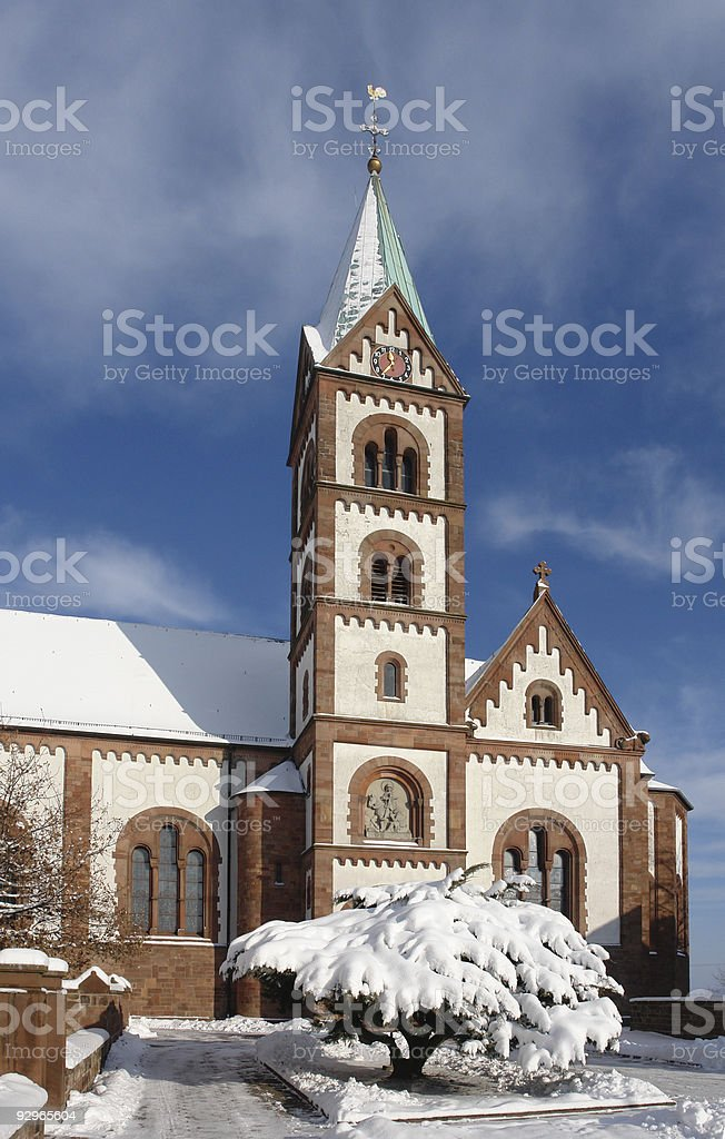 Martinshoehe Church royalty-free stock photo