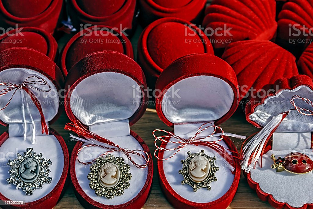 Martisor,symbol for coming spring royalty-free stock photo