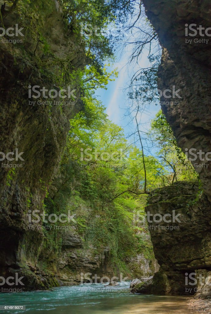 Martvili Canyon II stock photo