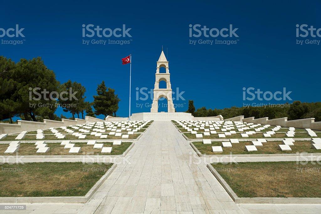 Martyrs' Memorial Canakkale, Turkey stock photo