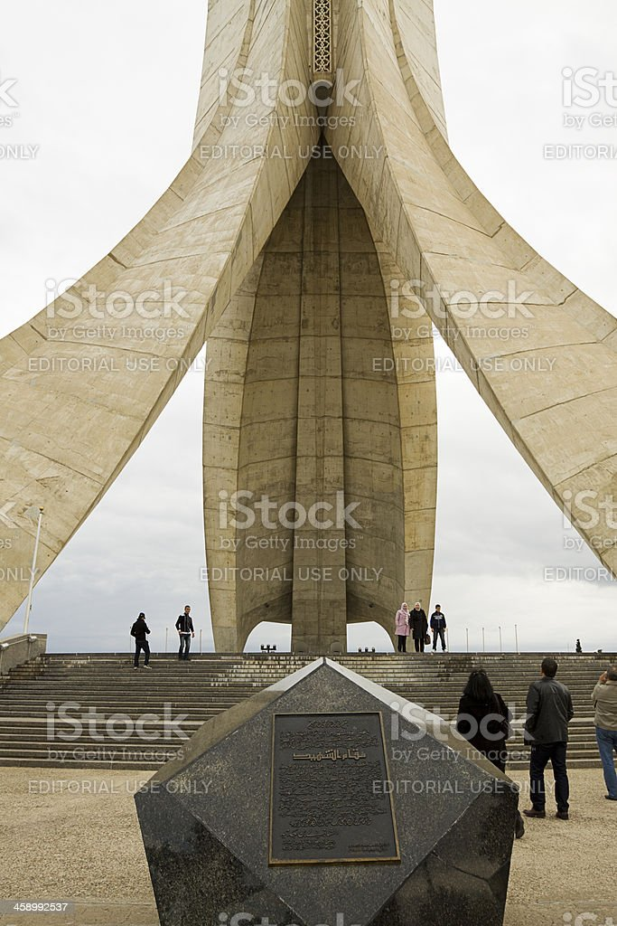 Martyrs' Memorial in Algiers royalty-free stock photo