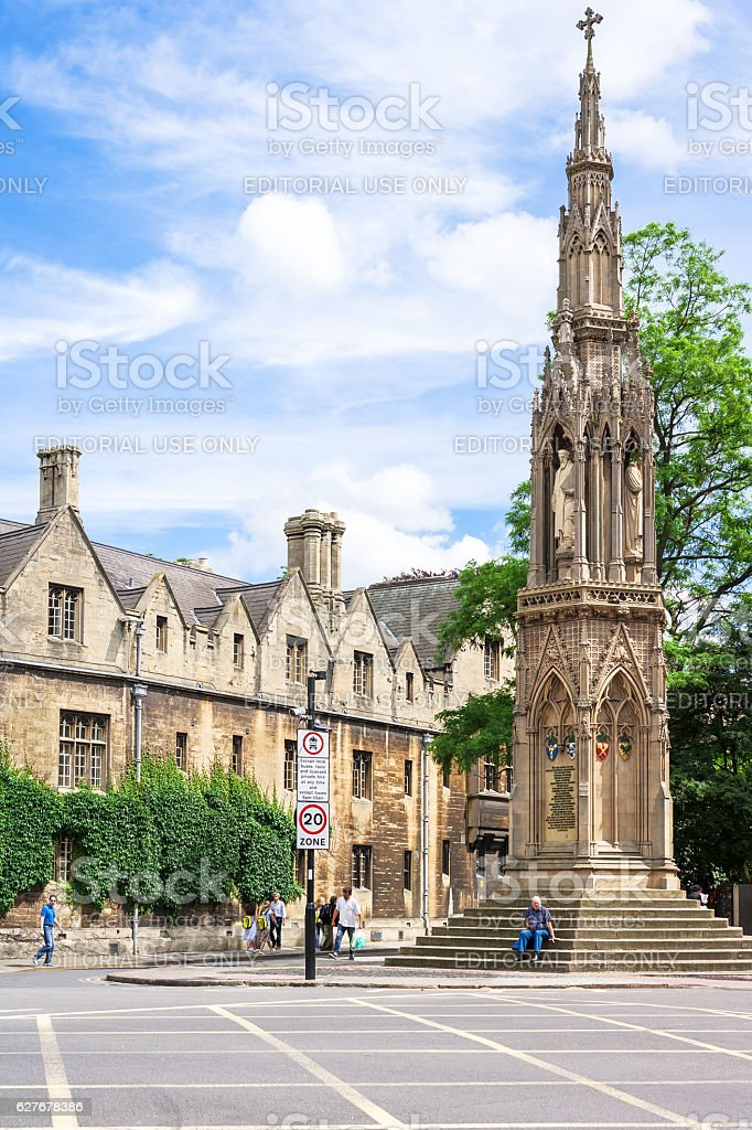 Martyrs Memorial  in Oxford, England royalty-free stock photo